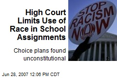 High Court Limits Use of Race in School Assignments