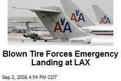 Blown Tire Forces Emergency Landing at LAX