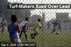 Turf-Makers Sued Over Lead