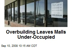 Overbuilding Leaves Malls Under-Occupied