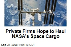 Private Firms Hope to Haul NASA&#39;s Space Cargo
