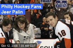 Philly Hockey Fans Jeer Palin