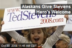 Alaskans Give Stevens Hero's Welcome
