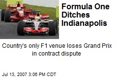 Formula One Ditches Indianapolis