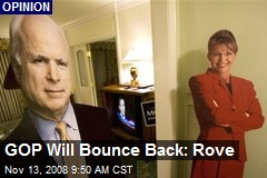 GOP Will Bounce Back: Rove