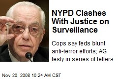 NYPD Clashes With Justice on Surveillance