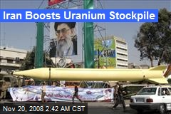 Iran Boosts Uranium Stockpile