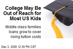 College May Be Out of Reach for Most US Kids