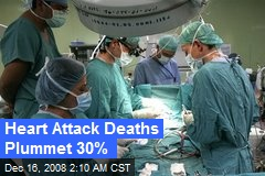 Heart Attack Deaths Plummet 30%