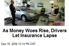 As Money Woes Rise, Drivers Let Insurance Lapse
