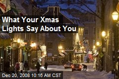 What Your Xmas Lights Say About You