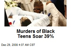 Murders of Black Teens Soar 39%