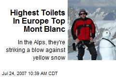 Highest Toilets In Europe Top Mont Blanc