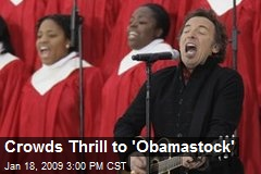 Crowds Thrill to 'Obamastock'
