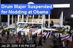 Drum Major Suspended for Nodding at Obama