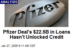 Pfizer Deal's $22.5B in Loans Hasn't Unlocked Credit