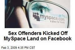 Sex Offenders Kicked Off MySpace Land on Facebook