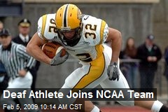 Deaf Athlete Joins NCAA Team