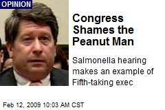 Congress Shames the Peanut Man