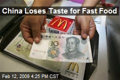 China Loses Taste for Fast Food