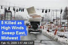 5 Killed as High Winds Sweep East, Midwest