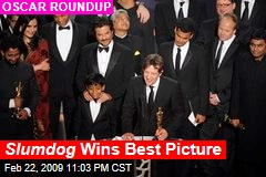 Slumdog Wins Best Picture