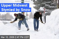 Upper Midwest Stymied by Snow