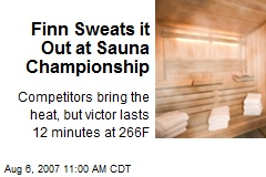 Finn Sweats it Out at Sauna Championship
