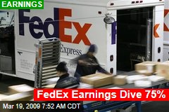 FedEx Earnings Dive 75%
