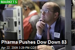 Pharma Pushes Dow Down 83