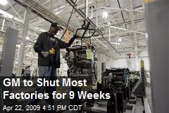 GM to Shut Most Factories for 9 Weeks