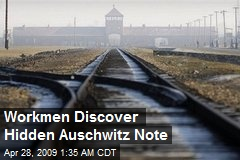 Workmen Discover Hidden Auschwitz Note