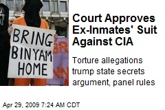 Court Approves Ex-Inmates' Suit Against CIA
