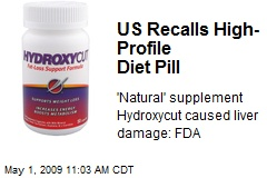 US Recalls High-Profile Diet Pill