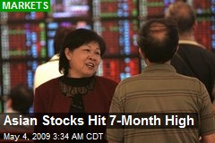 Asian Stocks Hit 7-Month High