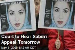 Court to Hear Saberi Appeal Tomorrow