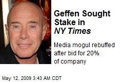 Geffen Sought Stake in NY Times