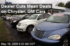 Dealer Cuts Mean Deals on Chrysler, GM Cars