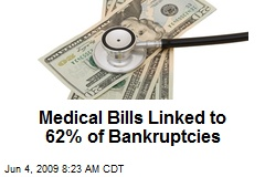 Medical Bills Linked to 62% of Bankruptcies