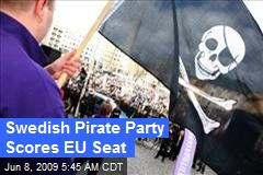 Swedish Pirate Party Scores EU Seat