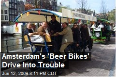 Amsterdam&#39;s &#39;Beer Bikes&#39; Drive Into Trouble