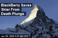 BlackBerry Saves Skier From Death Plunge