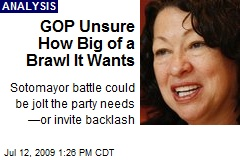 GOP Unsure How Big of a Brawl It Wants
