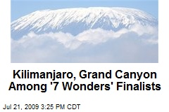 Kilimanjaro, Grand Canyon Among &#39;7 Wonders&#39; Finalists