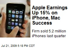 Apple Earnings Up 15% on iPhone, Mac Success