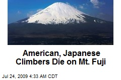 American, Japanese Climbers Die on Mt. Fuji