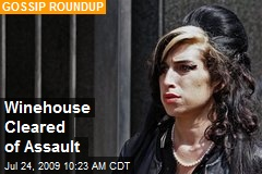 Winehouse Cleared of Assault