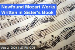 Newfound Mozart Works Written in Sister&#39;s Book