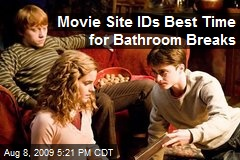 Movie Site IDs Best Time for Bathroom Breaks