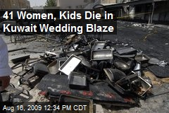41 Women, Kids Die in Kuwait Wedding Blaze